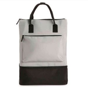 DSW grey backpack with shoes department